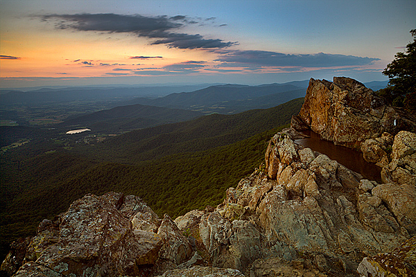 Little Stony Man Sunset - Shenandoah National Park