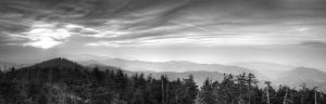 Clingmans Dome Sunset BW